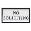 No Soliciting Statement Plaque - Color: White/Black - Montague Metal Products Garden Statues and Outdoor Accents