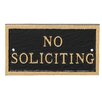 No Soliciting Statement Plaque - Color: Black/Gold - Montague Metal Products Garden Statues and Outdoor Accents