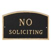 Montague Metal Products Inc. Arch No Soliciting Statement Adress Plaque