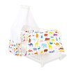 Pinolino 4-tlg. Babybettwäsche-Set Happy Zoo