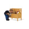 Pinolino Peter Bench with Under Seat Storage in Whitewash