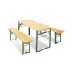 Pinolino Sepp Garden Table Set in Lacquered Green