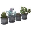 Gablemere Round Pot Planter (Set of 4)