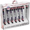 Forever Collectibles NFL Candy Cane Ornament (Set of 6)