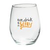 Kate Aspen Eat Drink Be Scary 15 Oz. Stemless Wine Glass (Set of 4)