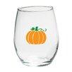 Kate Aspen Pumpkin 15 Oz. Stemless Wine Glass (Set of 4)