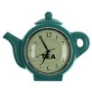 Juliana Impressions Hometime Teal Teapot Wall Clock