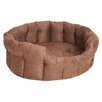 P & L Superior Pet Beds Machine Washable Premium Oval Faux Suede Softee Dog Bed with Memory Foam Base Cushion