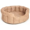 P & L Superior Pet Beds Premium Oval Softee Bed in Fauxe Suede in Tan