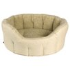 P & L Superior Pet Beds Premium Oval Heavy Duty Fleece Lined Softee Bed in Cream