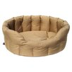 P & L Superior Pet Beds Country Dog Heavy Duty Oval Softee Bed in Sand
