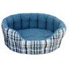 P & L Superior Pet Beds Premium Oval Drop Fronted Plaid Softee Pet Bed
