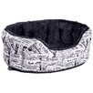 P & L Superior Pet Beds Oval Drop Fronted Softee Bed in Black