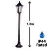 MiniSun IP44 Outdoor 1 Light 120cm Post and Lantern Set