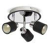 MiniSun Benton 3 Light LED Ceiling Spotlight