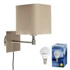 MiniSun Swing Arm 1 Light Wall Lamp
