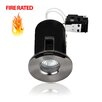 MiniSun Domed Bezel Fire Rated Bathroom 8.6cm Downlight