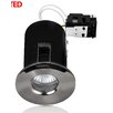 MiniSun Domed Bezel Fire Rated Bathroom 8.6cm Downlight (Set of 4)