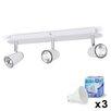 MiniSun Hardy 3 Light LED Ceiling Bar Spotlight