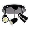 MiniSun Laurel 3 Light Ceiling Spotlight