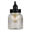 MiniSun Ribbed Glass Jar 16cm Table Lamp