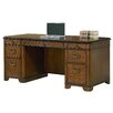 kathy ireland Home by Martin Furniture Kensington Double Pedestal Executive Desk