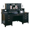 "kathy ireland Home by Martin Furniture Tribeca Loft 10"" H x 63.5"" W Long Reception Hutch"