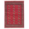ECARPETGALLERY Peshawar Bokhara Hand-Knotted Red Area Rug