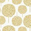"""Loboloup Hydrangea 15' x 27"""" Floral Roll Wallpaper"""