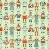 """Loboloup 15' x 27"""" Robots Wallpaper"""