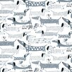 "Loboloup Wiener 15' x 27"" Dogs Wallpaper"