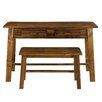 Casual Home Writing Desk and Bench Set