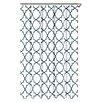 Echelon Home Quatrefoil Cotton Shower Curtain