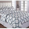 Echelon Home Quatrefoil Duvet Cover Set
