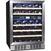 NewAir 46 Bottle Dual Zone Built-In Wine Refrigerator