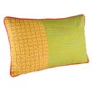 Karma Living Sun Kissed Gather Cotton Lumbar Pillow (Set of 2)