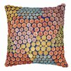 Karma Living Wooden Mosaic Beads Throw Pillow (Set of 2)