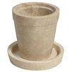 Noir Flower Round Pot Planter