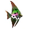 Novus Imports Novus Imports Purple & Green Spotted Glass Fish Original Painting