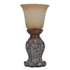 "Decor Therapy Uplight 12.25"" H Table Lamp with Bell Shade"
