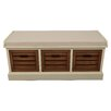 Decor Therapy Melody Wood Storage Entryway Bench