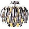 Naeve Leuchten 4 Light Semi-Flush Ceiling/Wall Light