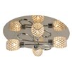 Naeve Leuchten 4 Light Semi-Flush Ceiling Light