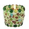 """Näve Leuchten 4-tlg. Teelichtschale """"Mosaik"""" in Grün"""