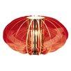 Näve Leuchten Deko-Tischleuchte Retro in Rot / Stahl-blank