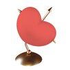 Näve Leuchten 23 cm Tischleuchte Herz