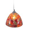 Naeve Leuchten Cracle 1 Light Shell Pendant