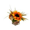 Creative Displays, Inc. Sunflower and Kidney Bean in Cube Vase