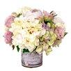 Creative Displays, Inc. Mixed Hydrangea and Rose Arrangement in Decoupage Pot