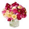 Creative Displays, Inc. Assorted Ranunculus Flower Water Pot